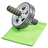 Andrew James Ab Roller and Kneeling Mat in Green