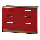 Welcome Furniture Knightsbridge 6 Drawer Chest - Oak - Ruby