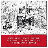 Holy Mackerel Greeting Card - Christmas Card - Xmas Shopping
