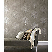 Graham & Brown Enchant Wallpaper - Golden Brown