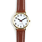 RNIB Water Resistant Easy to See Watch with Leather Stra
