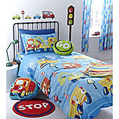Catherine Lansfield Home Kids Cotton Rich Trucks Single Bed Cotton Rich Duvet Cover set Multi