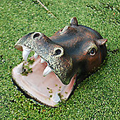 Floating Open Jaw Hippo Head Pond Feature Garden Ornament
