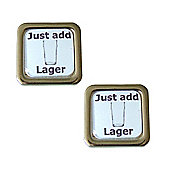 Just Add Lager Cufflinks