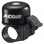 Acor Ergonomic Lever Mini Bicycle Bell, Black