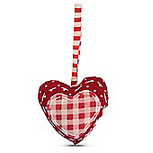 Hanging Spotty Fabric Heart Shaped Christmas Tree Decorations