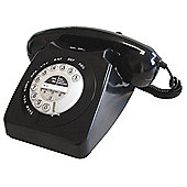 Geemarc Mayfair Retro Style Two Piece Corded Telephone - Black