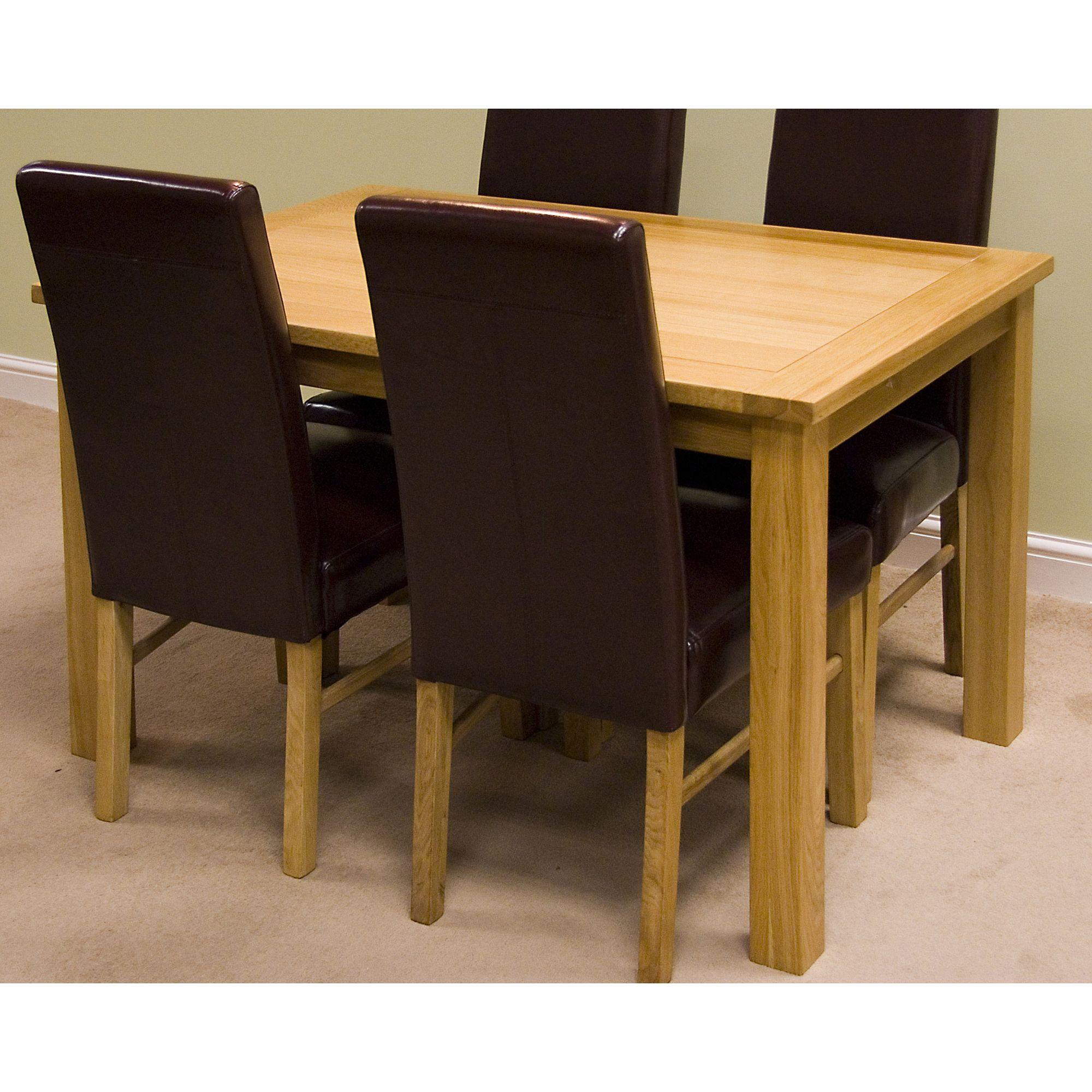 G&P Furniture Rectangular Fixed Top Oak Dining Table