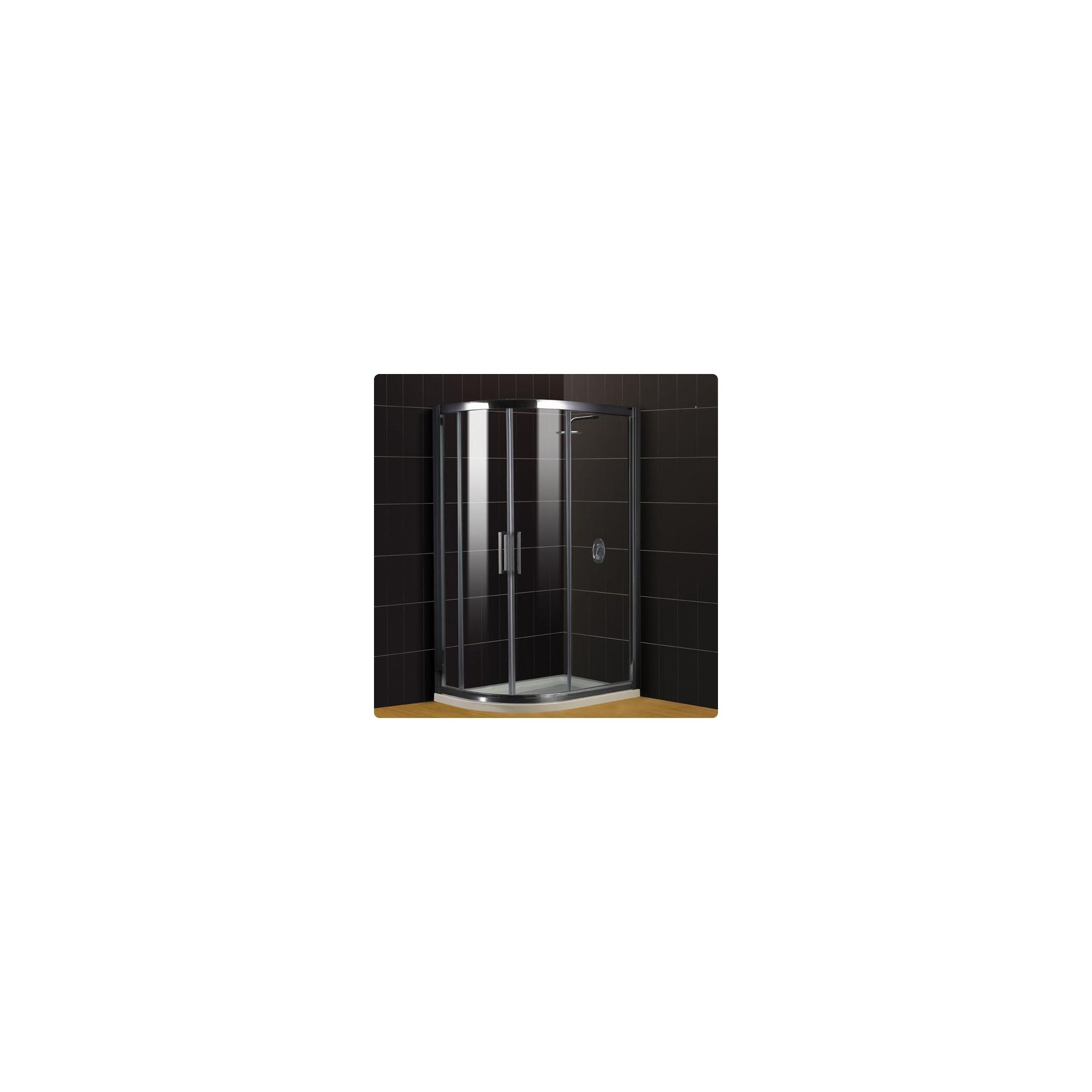 Duchy Supreme Silver Offset Quadrant Shower Enclosure (Complete with Tray) 1000mm x 800mm, 8mm Glass at Tesco Direct