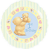 18' Forever Friends 1st Birthday Boy Foil (each)