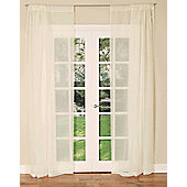 Slot Top Single Voile Curtain Panel - Ivory