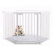 BabyDan BabyDen PlayPen White with Grey Mat