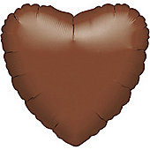 18' Chocolate Brown Heart Foil (each)