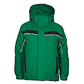 Monterosa Boys Skiing Snowboarding Winter Hooded Fleece Lined Ski Jacket Coat - Green