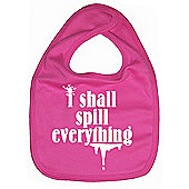 Dirty Fingers I shall spill everything Baby Bib Fuchsia