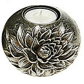 Flower - 3d Metallic Tea Light Holder - Closed Sunflower