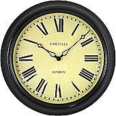Roger Lascelles Clocks Lascelles Station Clock in Black