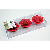 Pharmore Ltd Floating Led Roses Candle (Set of 3) - Red