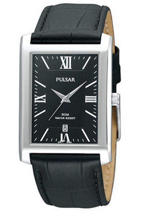Pulsar Ladies Black Leather Strap Watch PXDB71X1