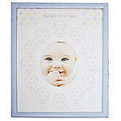 Babies First Year Monthly Photo Frame - Blue