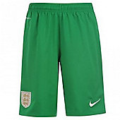 2013-14 England Home Nike Goalkeeper Shorts (Green) - Green