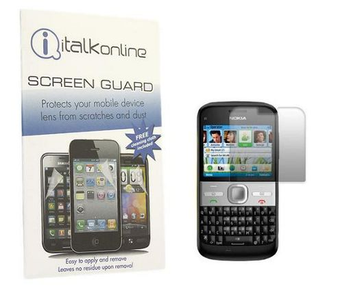 iTALKonline S-Protect LCD Screen Protector and Micro Fibre Cleaning Cloth - For  Nokia E5