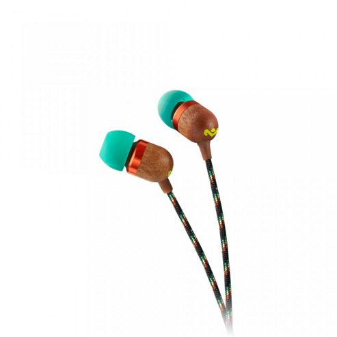 Marley Smile Jamaica Earphones 3-Button Microphone (Rasta)