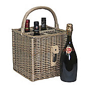 Wicker Valley 4 Bottle Basket