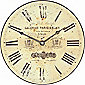Roger Lascelles Clocks Parchment Coloured Antique Dial Wall Clock