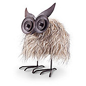 Oswald the Novelty Brown Faux Fur Springy Bouncing Owl Christmas Ornament