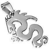 Urban Male Stainless Steel Plain Dragon Pendant