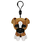 "Ty Beanie Boo Boos 3"" Key Clip - Brutus the Boxer Dog"