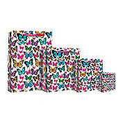 Graphic Butterflies Gift Bag - Small