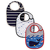 Mothercare Whale Bay Bibs - 3 Pack