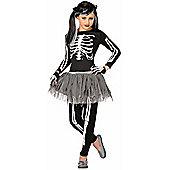 Child Girl Skeleton Costume Small