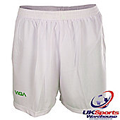 Viga White and Green Team Football Shorts - Multi