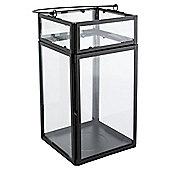 Tesco Black Glass And Metal Lantern