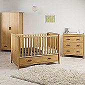East Coast Dorset Collection - Cot Bed, Double Wardrobe and Dresser