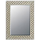 Home Essence Mosaic Mirror - Silver - 182 cm H x 76 cm W