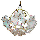 Loxton Lighting 1 Light Flower Lamp Shade - Pearlised Acrylic