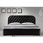 "Siena Luxury Designer Black 4ft6 Double Bed with 8"" Deluxe Memory Foam Mattress"