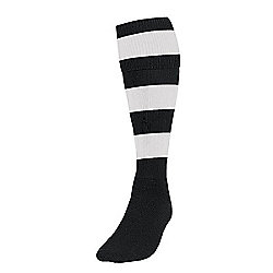Precision Training Hooped Football Socks Mens Black/White