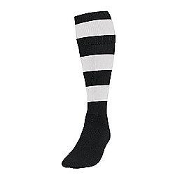 Precision Training Hooped Football Socks Mens Black/White