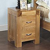 Hawkshead Rustic Oak Blonde 2 Drawer Bedside Cabinet