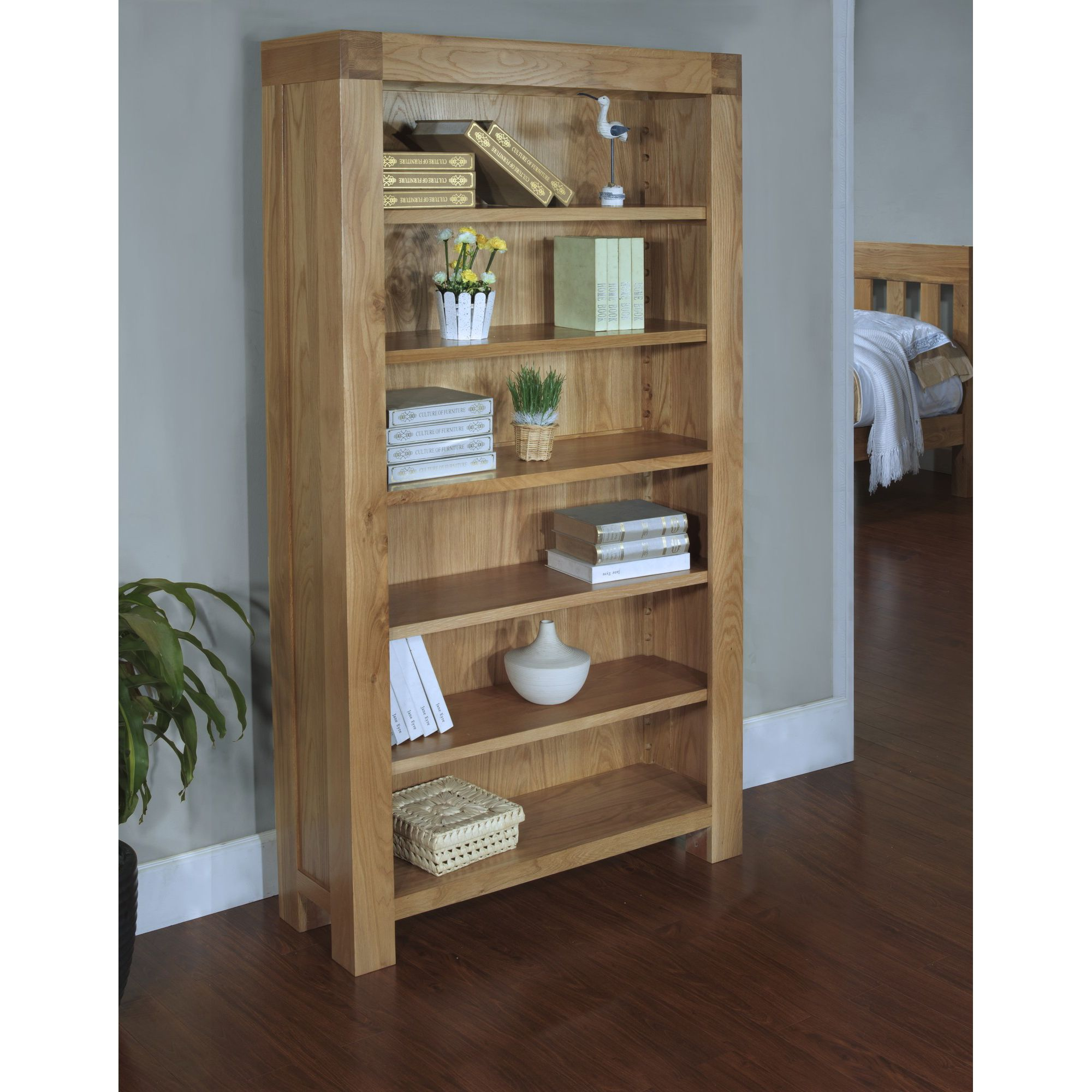 Hawkshead Rustic Oak Blonde Bookcase at Tesco Direct