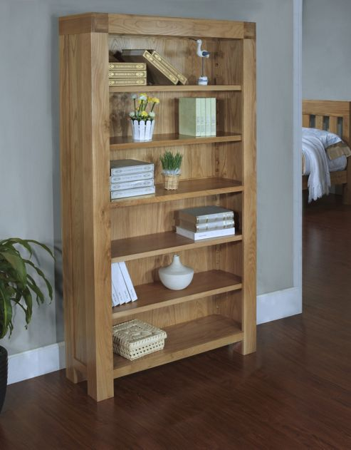 Hawkshead Rustic Oak Blonde Bookcase