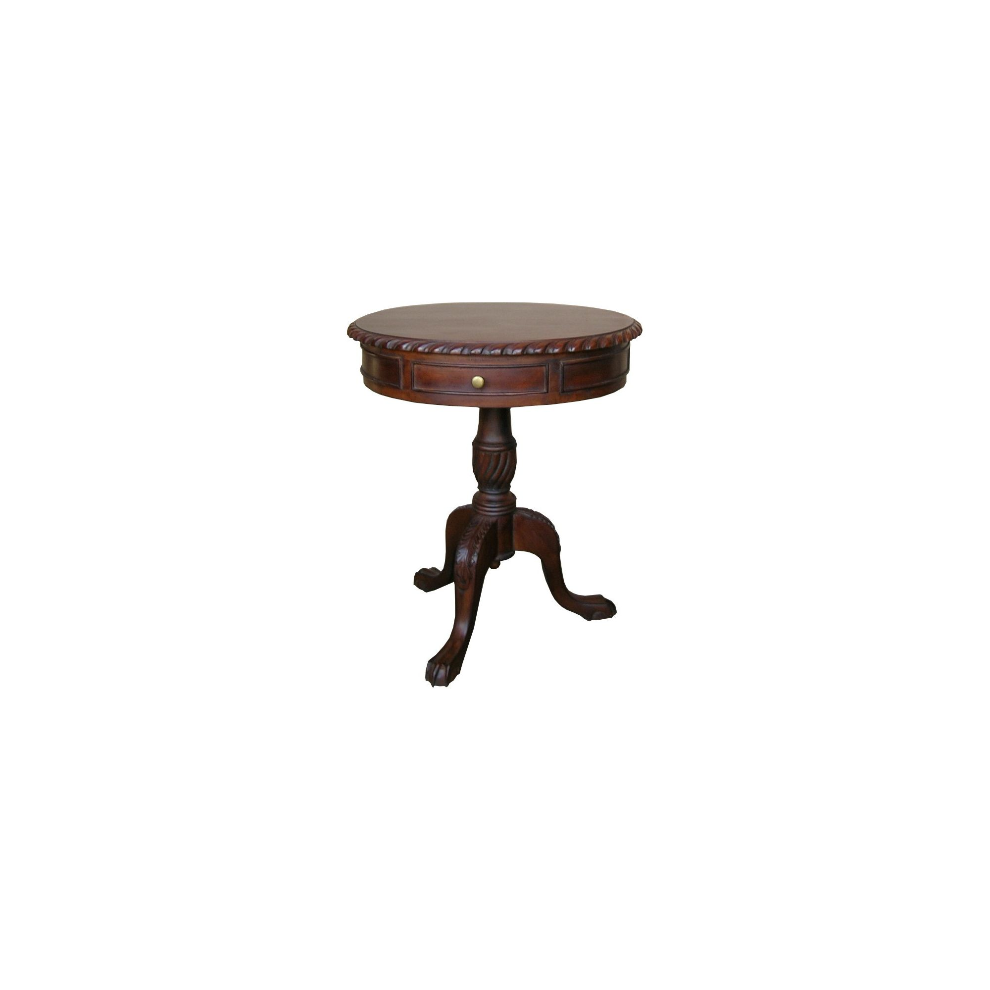 Lock stock and barrel Mahogany 2 Drawer Regency Drum Table in Mahogany at Tesco Direct