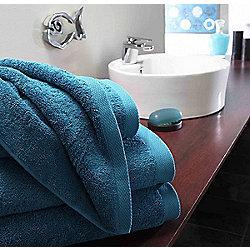 Boutique Turkish Cotton Towel Blue Face Cloth