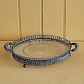 Victorian - 12inch / 30cm Metal + Glass Cake Plate / Rack