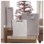 Tesco Silver Gift Bags, 3 Pack